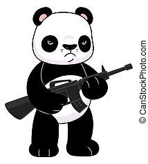panda, rifle
