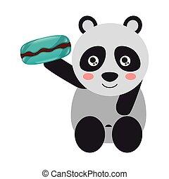 panda, schattig, beer, versuikeren, zoet