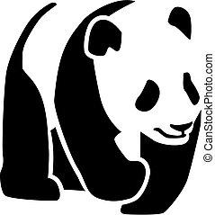 Panda silhouette