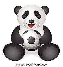 panda soccer ball