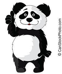 panda, spotprent