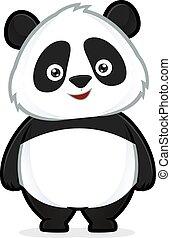 Panda standing - Clipart picture of a panda cartoon...