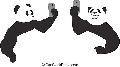 Panda taking a selfie