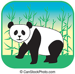 panda vector hand drawn
