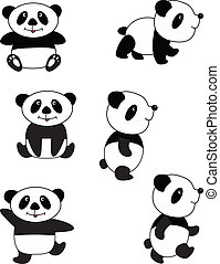 Panda  - Vector panda collection