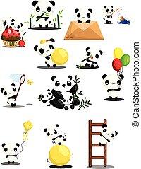 Panda Vector Set