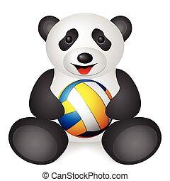 panda volleyball ball