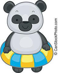 Panda with Flotation Device