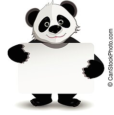 Panda with white background - Illustration cute fat panda...