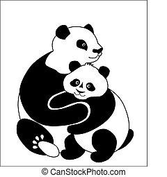 pandas, familie