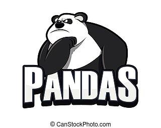 pandas illustration design colorful
