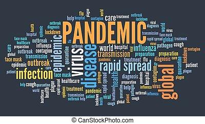 pandemic, 雲, 単語