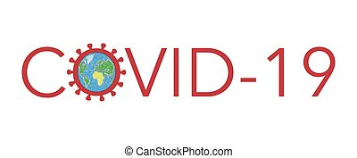 Pandemic Covid-19 of Coronavirus Sars-CoV-2 vector illustration