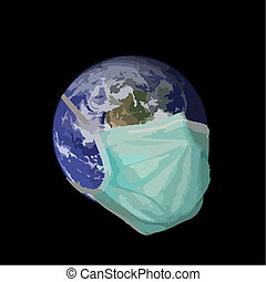 pandemic earth - A graphic representation of the earth in...