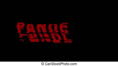 Pandemic Noise Text Red Flickering Damage Abstract Background.