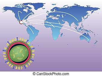 Pandemic of H1N1 - Worldmap looks Epidemic