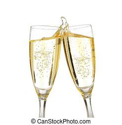 pane tostato, champagne, celebrazione