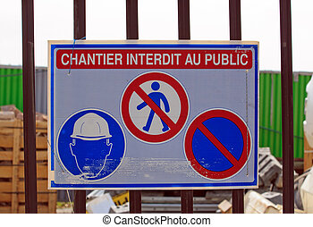 forbidden to the public (France)