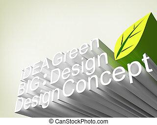 panel, i, font, 3, ide, begreb, konstruktion