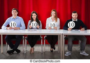 panel, jueces, tenencia, 10, raya, señales
