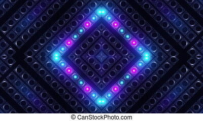 Panel Lamps Bright Flashing Looped Video