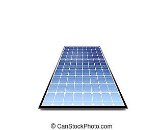 panel, photovoltaic, ángulo bajo