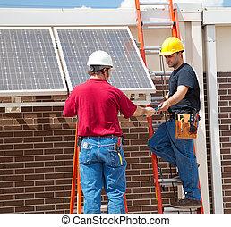 panel solar, instalación