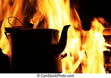 panela chá