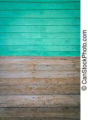 paneled, salle, plancher, mur, dimensionnel, bois