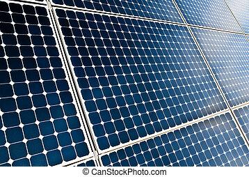 panelen, modules, zonne