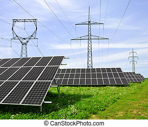 paneler för solar energi