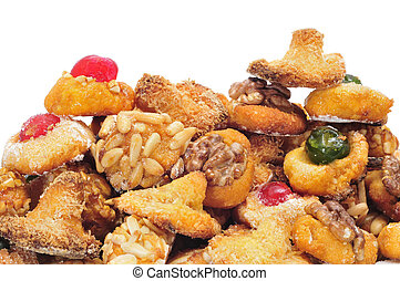 panellets, a typical pastry of Catalonia, Spain, in All Saints holiday