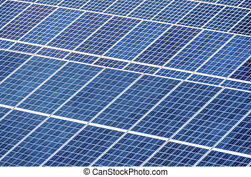 solar power plant - panels of a solar power plant. solar...