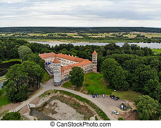 Historical Panemune castle in Vytenai, Jurbarkas district, Lithuania close to Nemunas river