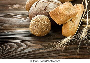 panetteria, bordo, bread