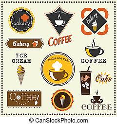 panetteria, etichette, caffè