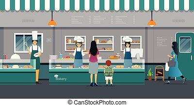 panetteria, shopping