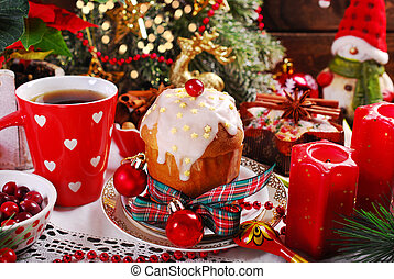 panettone cake for christmas