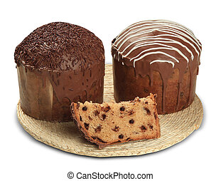 Panettone of chocolate is the traditional Italian dessert for Christmas