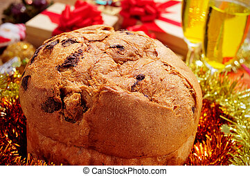 panettone on a christmas table
