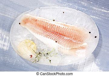 Pangasius fillet. - Frozen pangasius fillet with fresh...