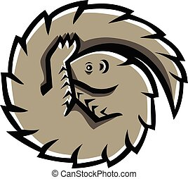 pangolin-curled-mascot