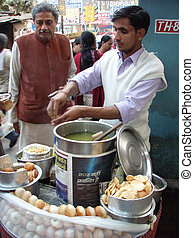 Pani puri is a popular street snack in India. - Panipuri is...