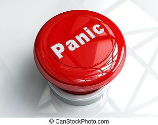 Panic Button - 3D Illustration. Isolated on white.