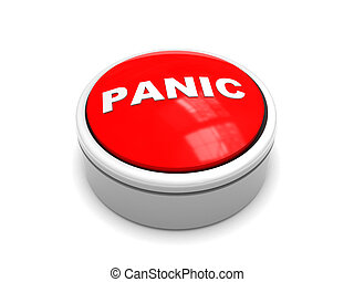 panic button - 3d illustration of red 'panic' button over...