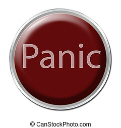 "Panic Button - Red button with the word \""Panic\\\"""