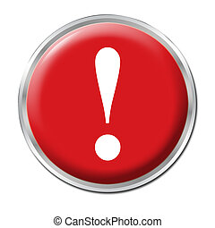 Panic Button - Red round button with the exclamation mark...