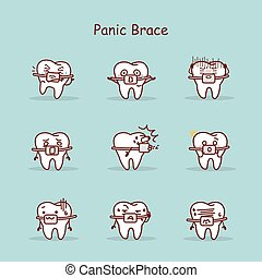 cartoon tooth wear brace