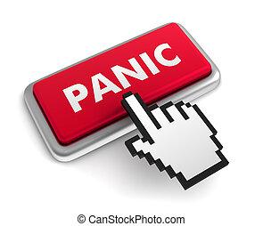 panic keyboard concept illustration