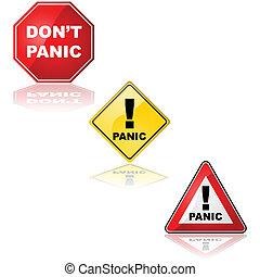 Panic sign